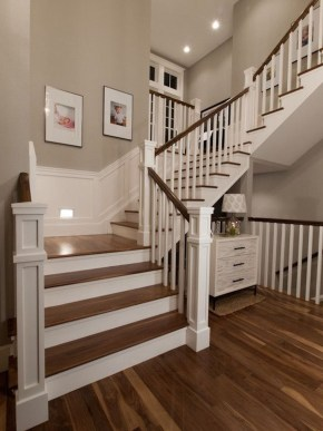 Gorgeous Wooden Staircase Design Ideas For Branching Out 50