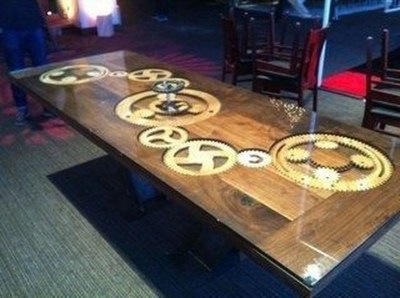 Impressive Home Furniture Ideas With Resin Wood Table 08