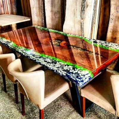 Impressive Home Furniture Ideas With Resin Wood Table 09