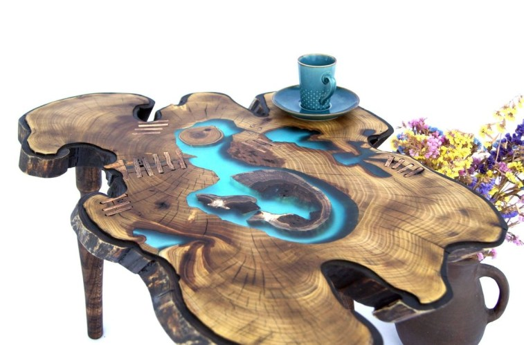 Impressive Home Furniture Ideas With Resin Wood Table 22
