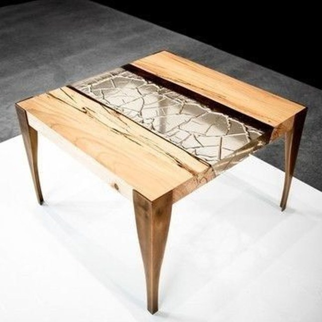 Impressive Home Furniture Ideas With Resin Wood Table 43