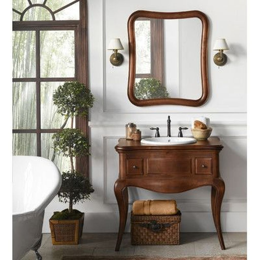 Wonderful Single Vanity Bathroom Design Ideas To Try 26