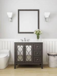 Wonderful Single Vanity Bathroom Design Ideas To Try 40
