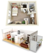 Adorable One Bedroom Apartment Design Idas37