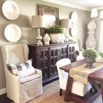 Awesome Dining Room Buffet Table Décor Ideas28