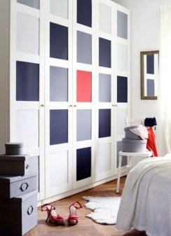 Beautiful Navy Blue And Coral Bedroom Decor09