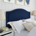 Beautiful Navy Blue And Coral Bedroom Decor28