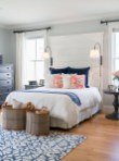 Beautiful Navy Blue And Coral Bedroom Decor29