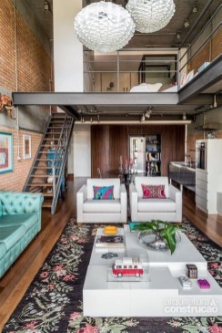Adorable Loft Apartment Decor Ideas24