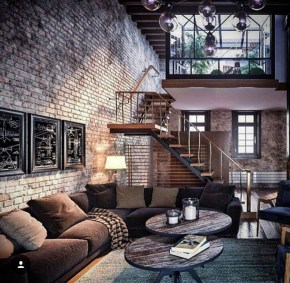 Adorable Loft Apartment Decor Ideas41