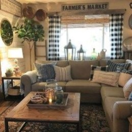 Awesome Living Room Design Ideas With Farmhouse Style19