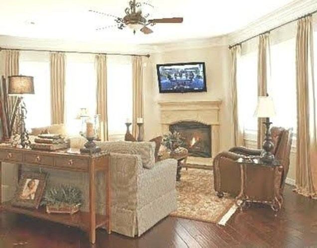 Impressive Living Room Ideas With Fireplace And Tv36