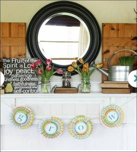 Best Ways To Decorate Your Circle Mirror With Garland01