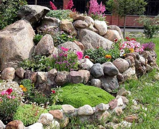 Cool Front Yard Rock Garden Ideas07