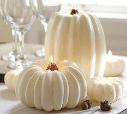 Lovely White And Orange Pumpkin Centerpieces For Fall And Halloween Table34