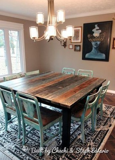 Affordable Farmhouse Dining Room Design Ideas34