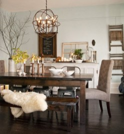 Affordable Farmhouse Dining Room Design Ideas35