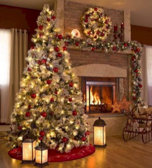Awesome Vintage Christmas Living Room Decoration Ideas07