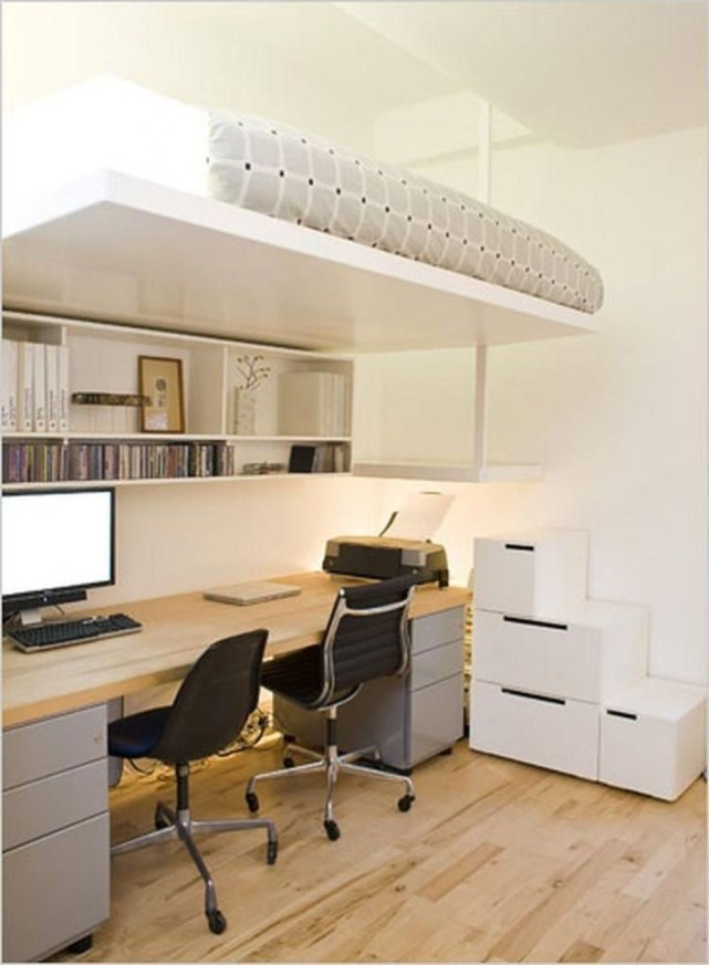 Comfy Home Office Design Ideas For Small Apartment06