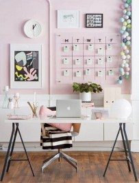 Comfy Home Office Design Ideas For Small Apartment37