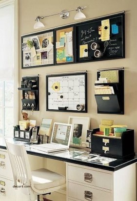 Comfy Home Office Design Ideas For Small Apartment42