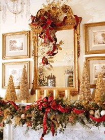 Incredible Christmas Mantel Decorating Ideas Budget05