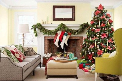 Incredible Christmas Mantel Decorating Ideas Budget17