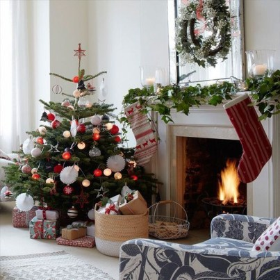 Incredible Christmas Mantel Decorating Ideas Budget32