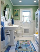 Affordable Beach Bathroom Design Ideas34