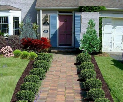 Comfy Low Maintenance Front Yard Landscaping Ideas17