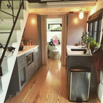Lovely Tiny House Kitchen Storage Ideas01