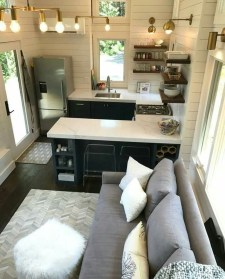 Lovely Tiny House Kitchen Storage Ideas33