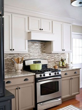 Captivating White Cabinets Design Ideas For Kitchen24