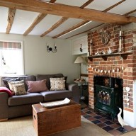 Modern Brick Fireplace Decorations Ideas For Living Room19