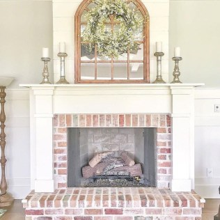 Modern Brick Fireplace Decorations Ideas For Living Room47