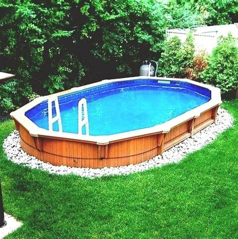 Affordable Ground Pool Landscaping Ideas34