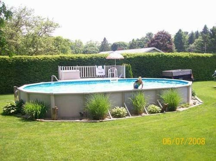 Affordable Ground Pool Landscaping Ideas38