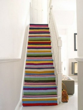 Beautiful Color Ideas For Your Stairs Decoration15
