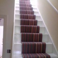Beautiful Color Ideas For Your Stairs Decoration26