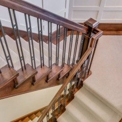Beautiful Color Ideas For Your Stairs Decoration31