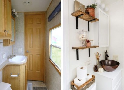 Fascinating Rv Remodel Ideas For Bathroom On A Budget12