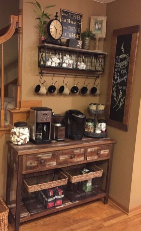 Latest Diy Coffee Station Ideas In Your Kitchen13