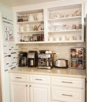 Latest Diy Coffee Station Ideas In Your Kitchen26