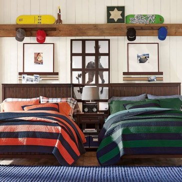 Vintage Shared Rooms Decor Ideas For Teen Boy01