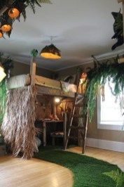 Charming Kids Bedroom Ideas With Jungle Theme To Try25