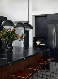 Elegant Black Kitchen Design Ideas You Need To Try27