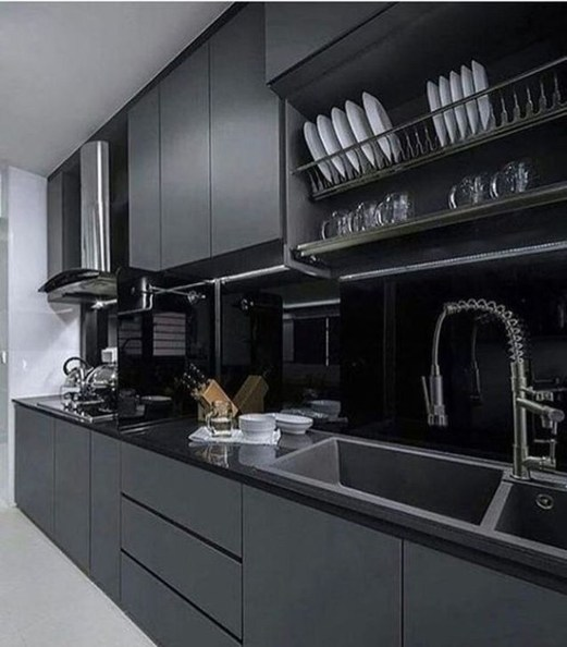Elegant Black Kitchen Design Ideas You Need To Try41