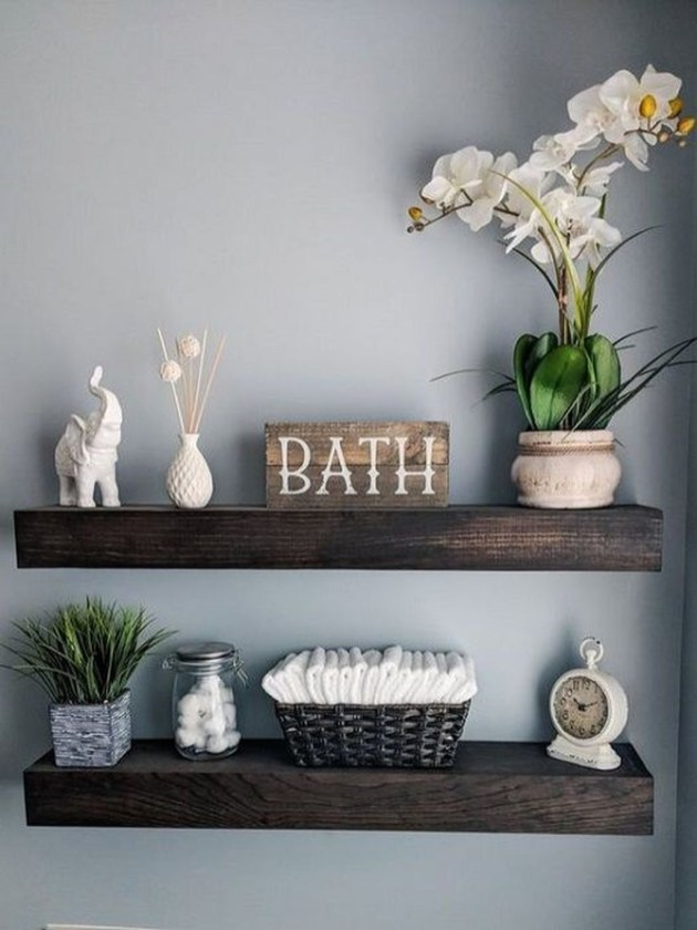 Modern Bathroom Floating Shelves Design Ideas For You33