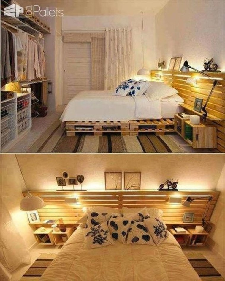 Unordinary Recycled Pallet Bed Frame Ideas To Make It Yourself24