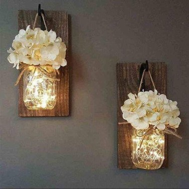 Attractive Lighting Wall Art Ideas For Your Home This Season27